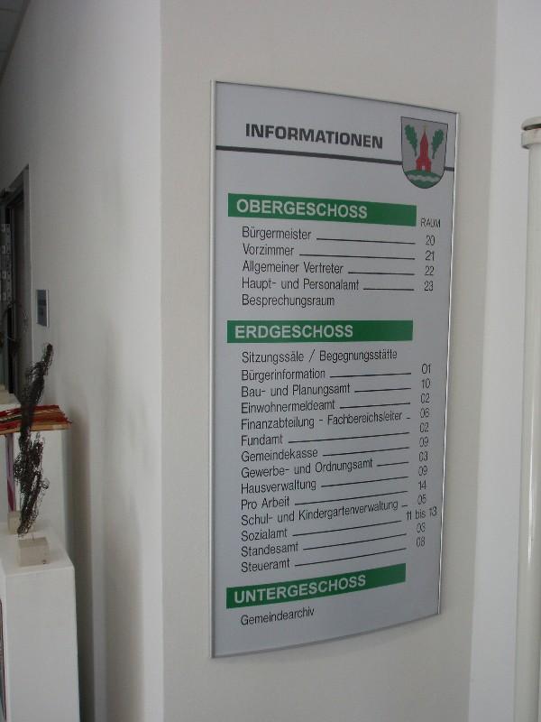 Objektbeschilderung - System Primus Orientierungstafel