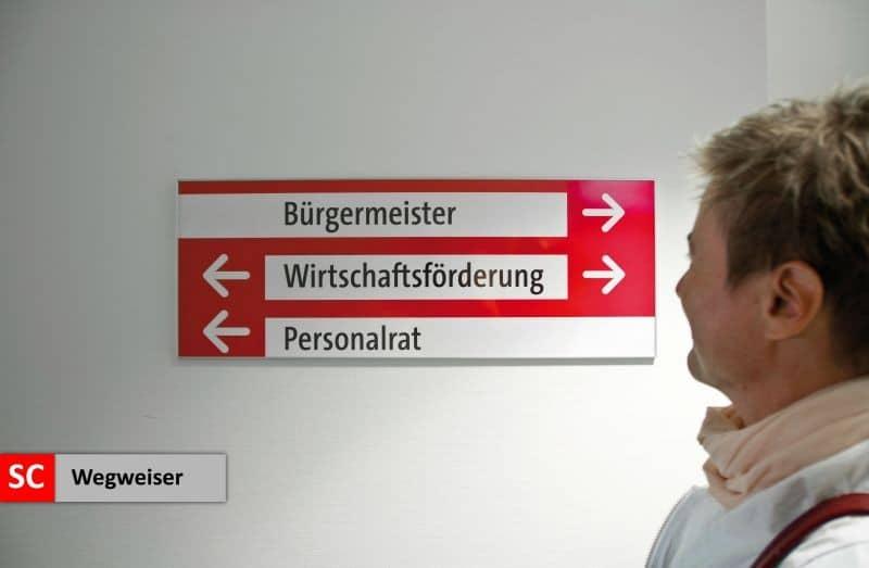 Objektbeschilderung - System 12 Wegweiser