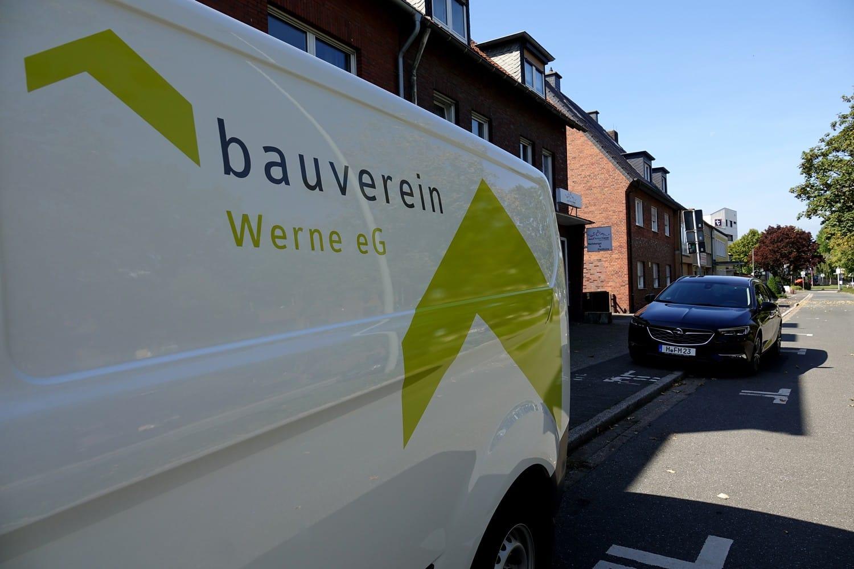 Fahrzeugbeschriftung Bauverein Werne