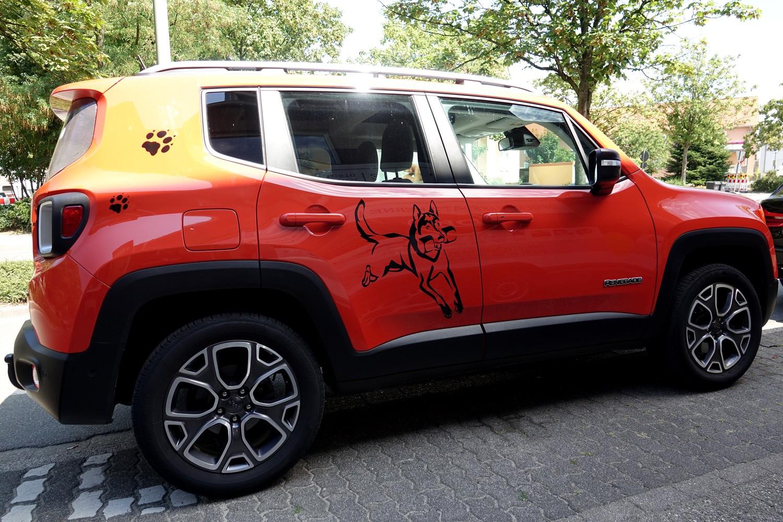 Fahrzeugbeschriftung eines Jeep Renegade