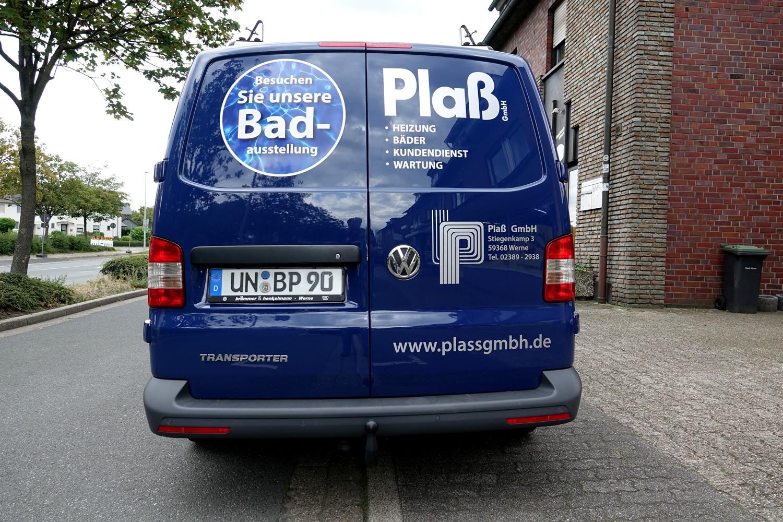 Fahrzeugbeschriftung eines Transporters VW-T5